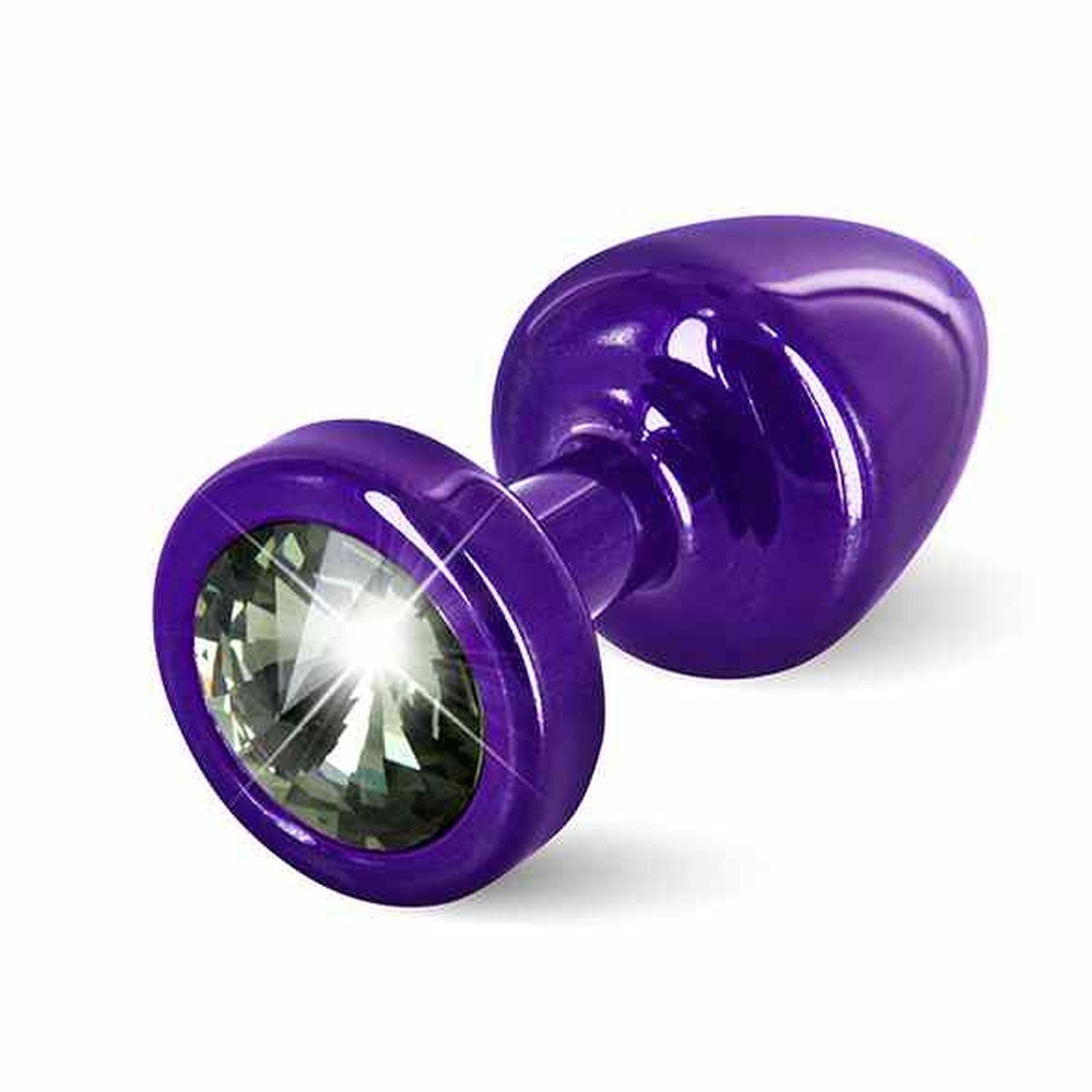 Diogol - Anni Butt Plug Round 25 mm Purple & Black