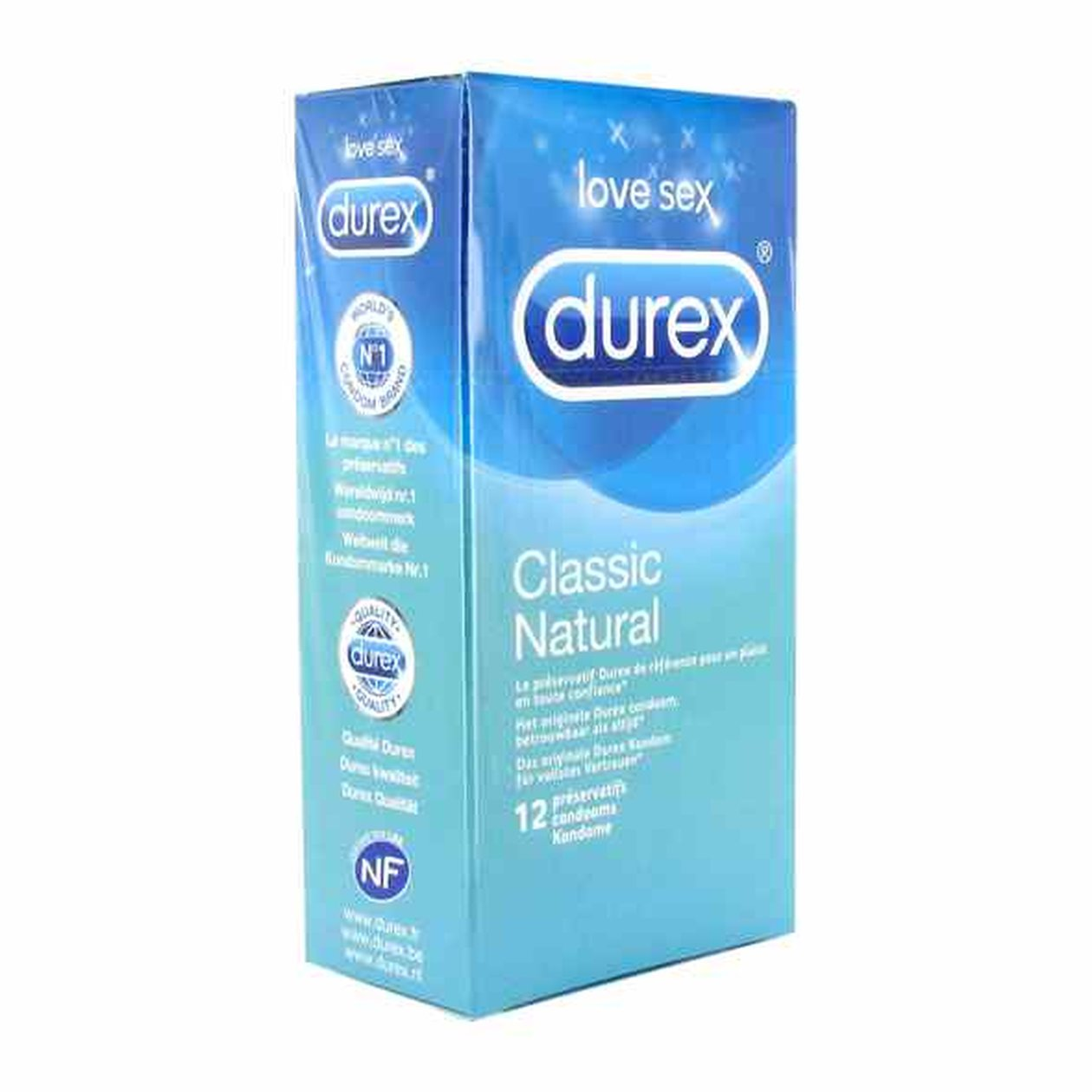 Durex Classic Natural Condoms 12 pcs