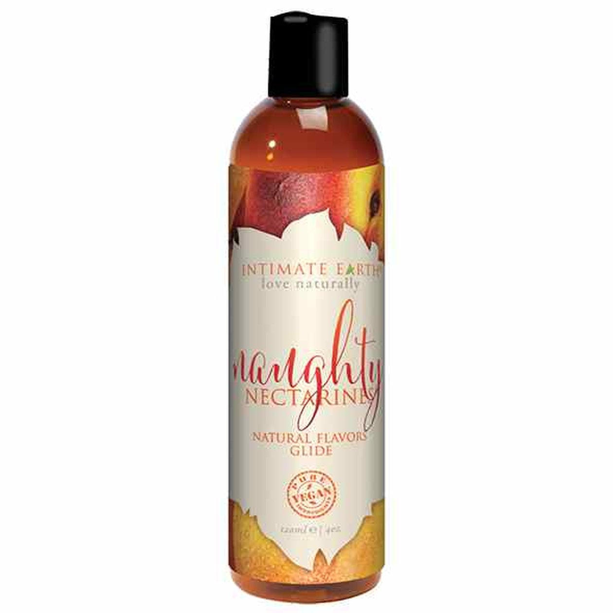 Intimate Earth - Natural Flavors Glide Naughty Nectarines...
