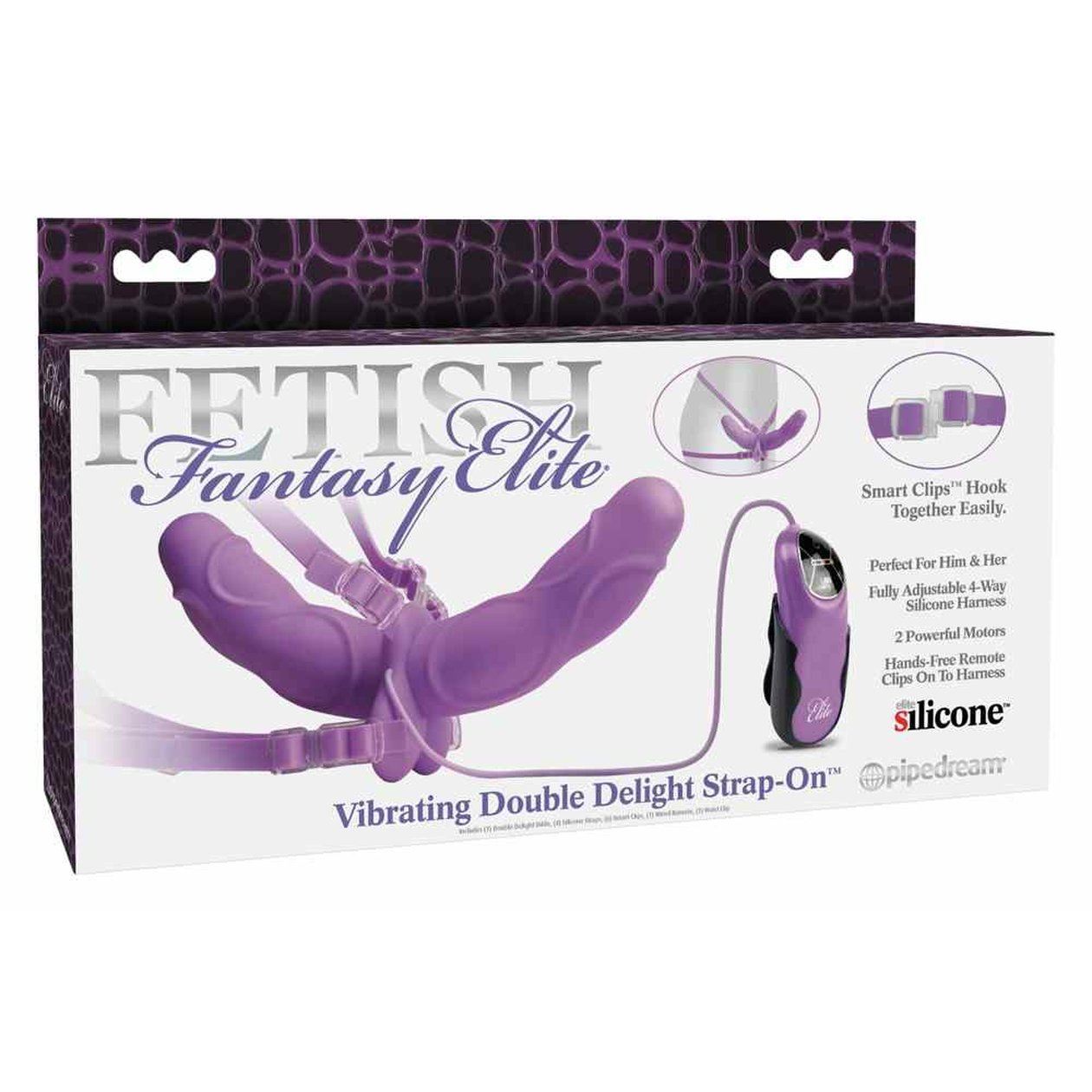 Vibrating Double Delight Strap-on